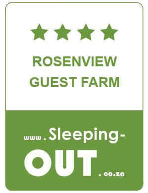 "This rating is based on reviews supplied by guests that have <a href=""https://www.sleeping-out.co.za/md/Rosenview-Guest-Farm/8972"" target=""_blank"" rel=""noopener"">booked through Sleeping-OUT</a> and stayed at Rosenview Guest Farm. <a href=""https://www.sleeping-out.co.za/md/Rosenview-Guest-Farm/8972#commentAnchor"" target=""_blank"" rel=""noopener"">Click here to read the reviews</a>."